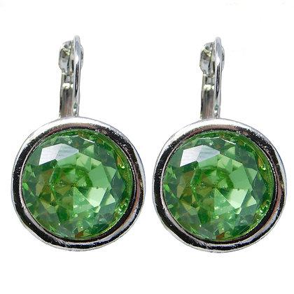 Cool Lime Crystal Drop Earrings