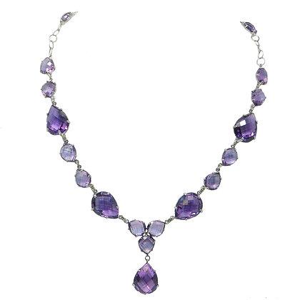 The Pretty Woman Amethyst & Diamond Statement Necklace