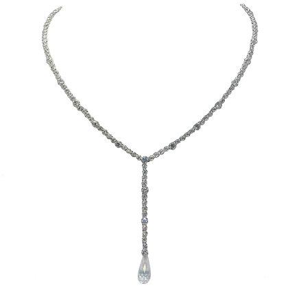 """Royal CZ Briolette """"Y"""" Drop Necklace"""