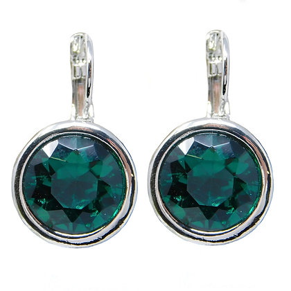 Emerald Crystal Drop Earrings