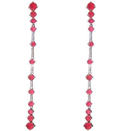 Date Night Pink Quartz Linea Earing