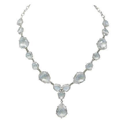 The Pretty Woman White Amethyst & Diamond Statement Necklace