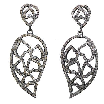 Vintage Paisley Diamond Earrings