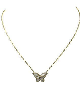 Single MOP Butterfly Necklace