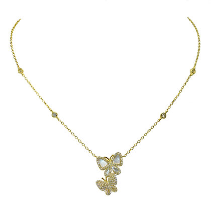 Double Luck Butterfly Necklace
