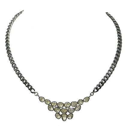 Vintage Pyramid Rose Cut Diamond Necklace