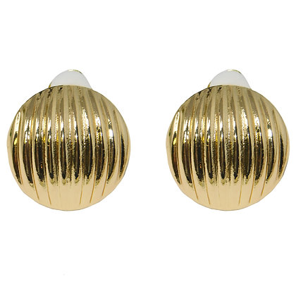 Ribbed Dome Clip On Earring