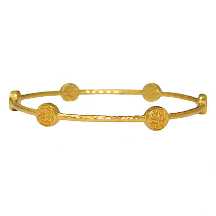 6 Station Coin Bangle Bracelet