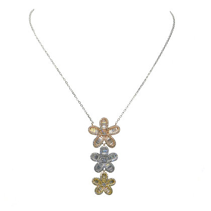 Triple Posy Drop Necklace