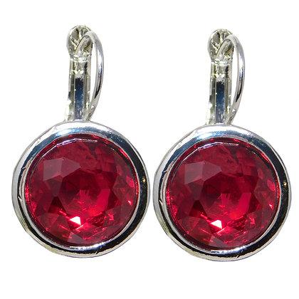 Ruby Crystal Drop Earring