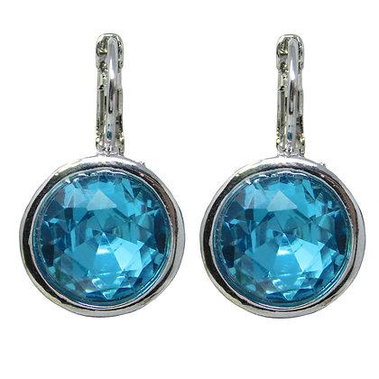 Mediterranean Blue Crystal Drop Earring