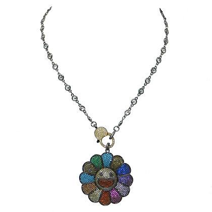 Rainbow Sunflower Necklace
