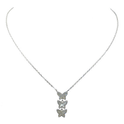 3 For Luck Butterfly Necklace