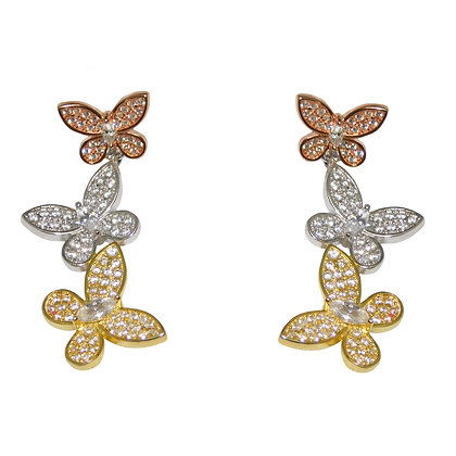 Cascading Butterfly Earrings
