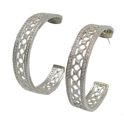 Lattice CZ Hoop