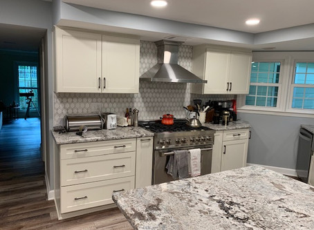 Kitchen Remodel.  Just finished.  Our customer loves their new space.  Look at the before and after