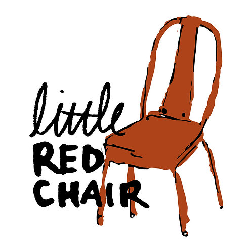 Set of 5 little Red Chair stickers