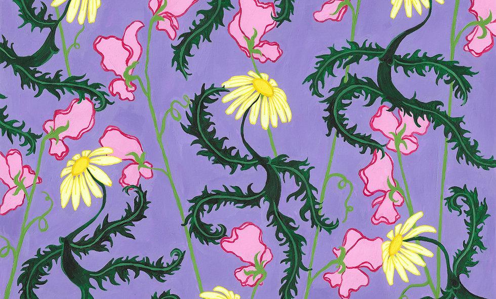 Dancing flowers purple