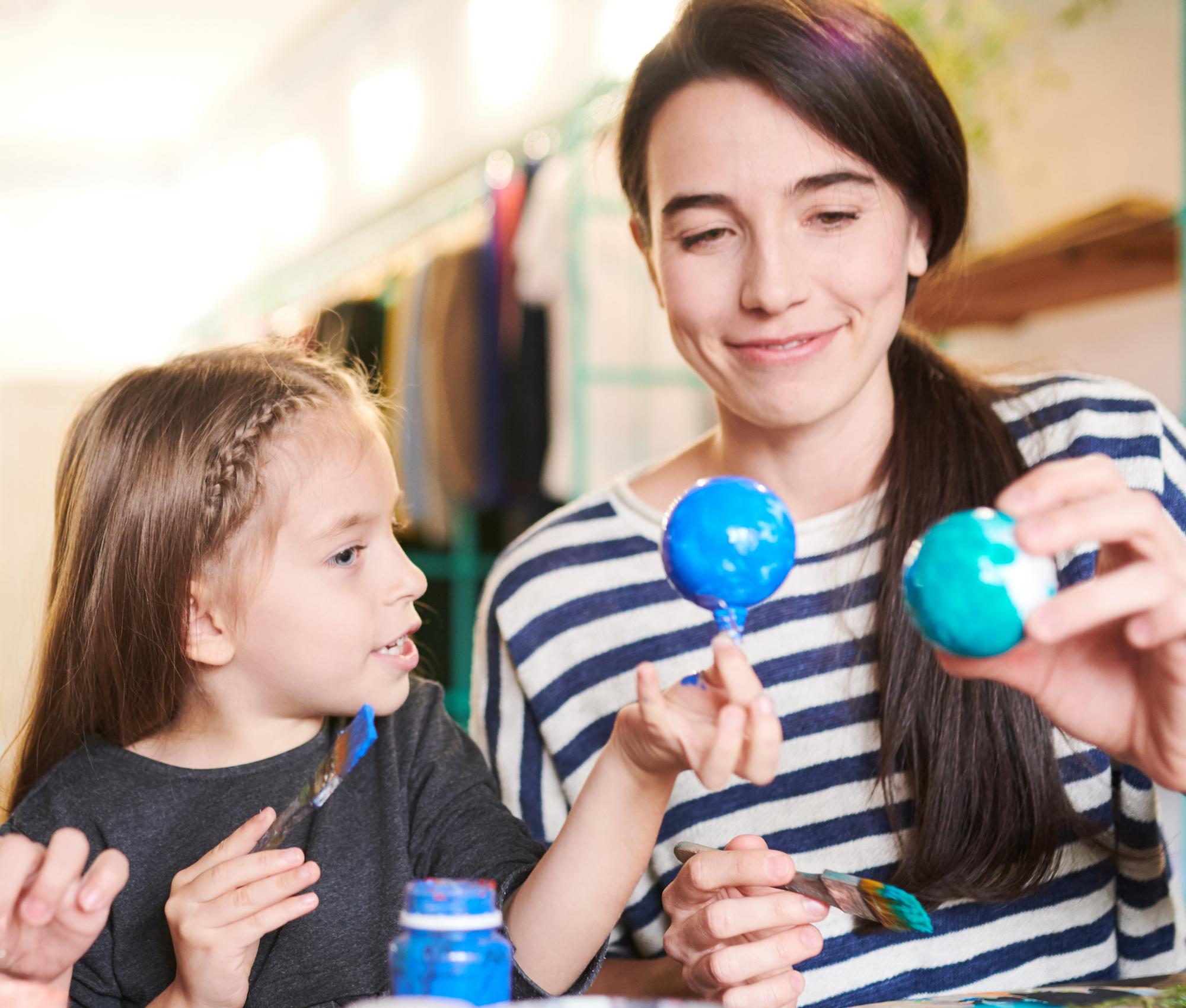 Caregiver and Child Craft Night