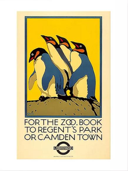 Vintage London Zoo Poster