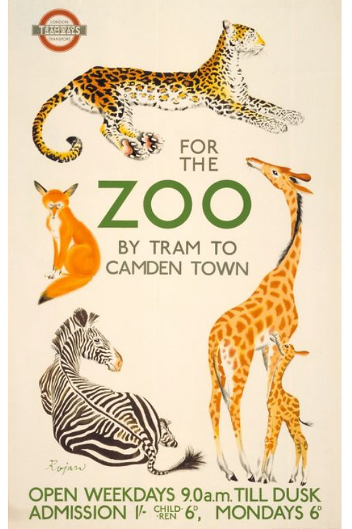 For the Zoo Vintage Poster