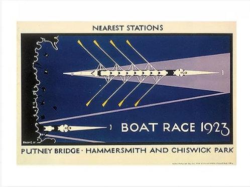 Vintage Boat Race Poster