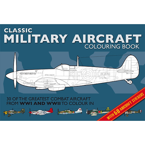 Military Aircraft Colouring Book
