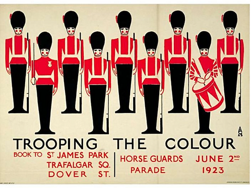 Trooping The Colour Vintage Poster