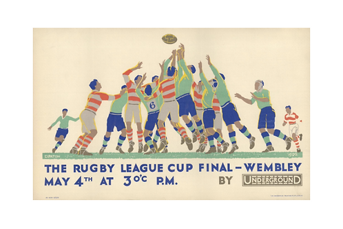 The Rugby League Cup Final Poster