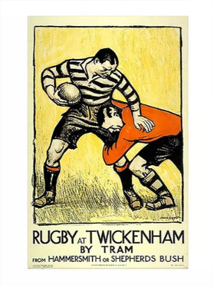 Vintage Twickenham Poster