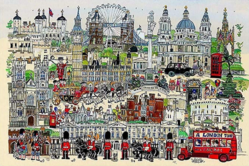 Illustrated London Tour 1000 Piece Puzzle