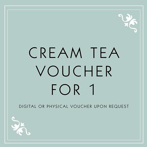 Cream Tea Voucher for 1