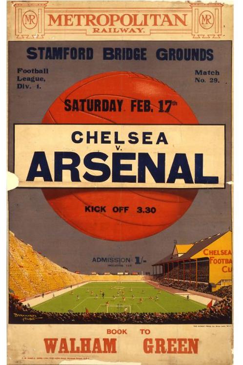 Chelsea V Arsenal Vintage Poster