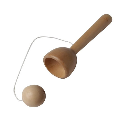 Wooden Cup & Ball