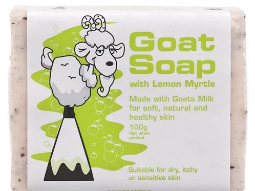 Goat Soap with Lemon Myrtle 100g