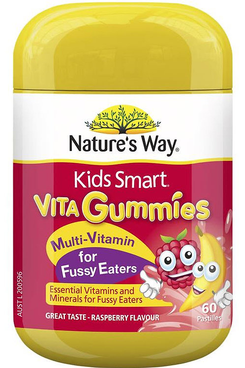 Nature's Way Kids Smart Vita Gummies Multi Vitamin for Fussy Eaters 60 Pastilles