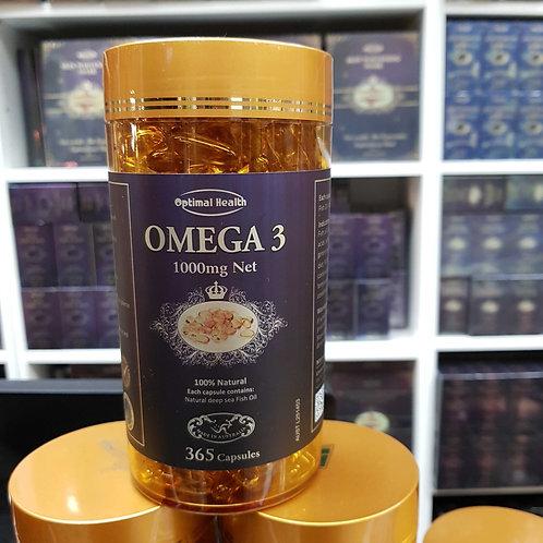 Optimal Health Omega 3 TGA GMP HEALTH AUSTRALIA 365 Capsules