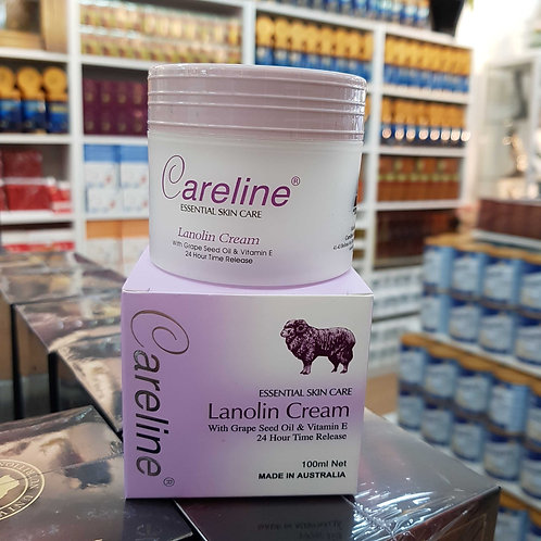 Careline Lanolin Cream 100g Grape Seed & Vitamin E