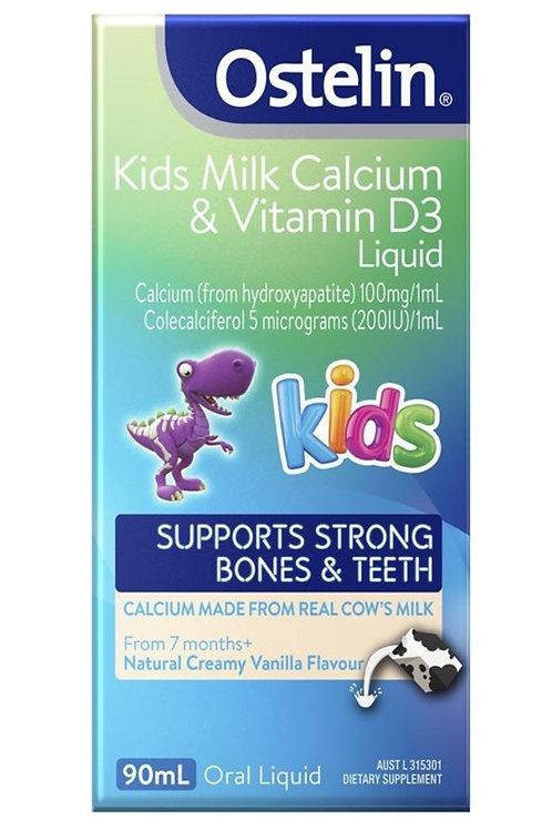 Ostelin Kids Milk Calcium & Vitamin D Liquid 90ml