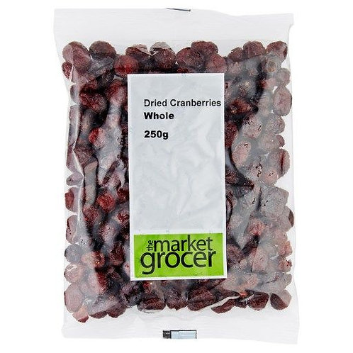 The Market Grocer Dried Cranberries Whole 250g