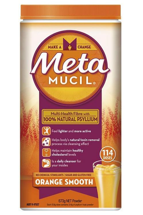 Metamucil Fibre Supplement Smooth Orange 114 Dose 673g