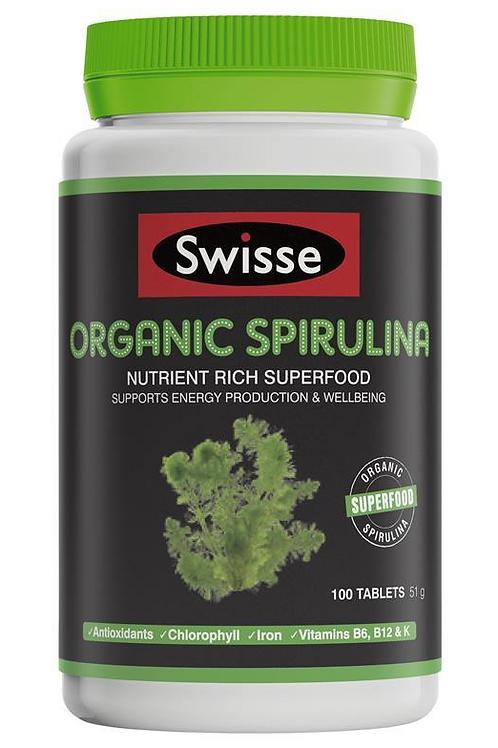 Swisse Organic Spirulina 100 Tablets