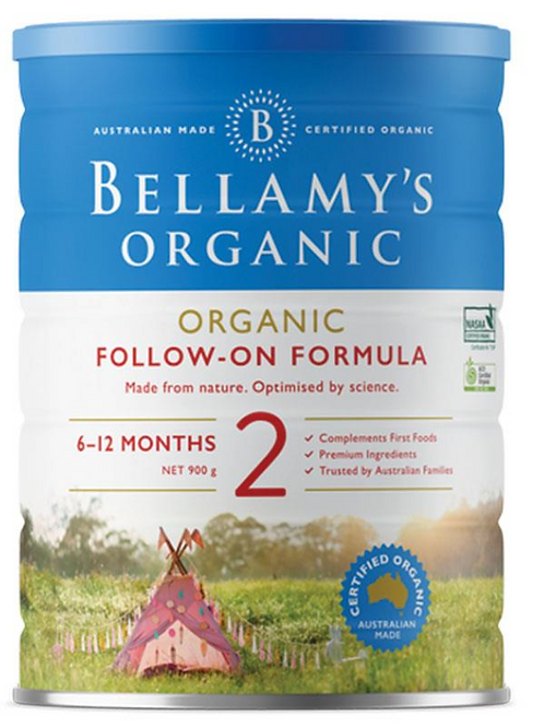 Bellamy's Organic Follow On Formula Step 2 900g Stage 2