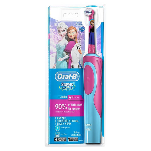 Oral-B Stages Power Kids Electric Toothbrush, 5+ Years, Soft Frozen