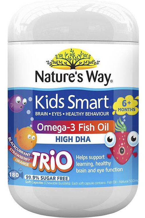 Nature's Way Kids Smart Omega3 Fish Oil Trio 180 Capsules