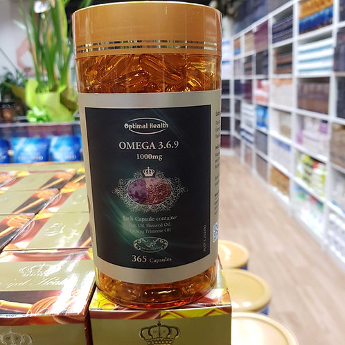 Optimal Health Omega 369 TGA GMP HEALTH AUSTRALIA 365 Capsules