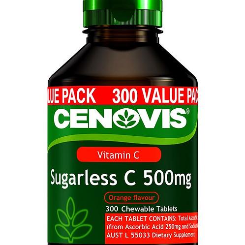 Cenovis Vitamin C 500mg Sugarless 300 Chewable Tablets