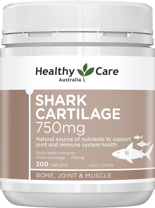 Healthy Care Shark Cartilage 750mg 200 Tablets