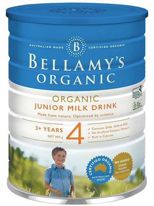 Bellamy's Organic Junior Milk Drink Step 4 900g