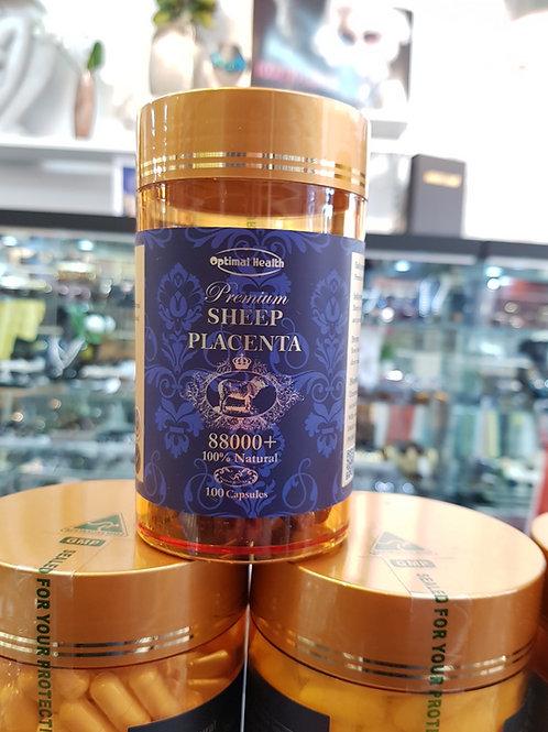 Optimal Health Premium Sheep Placenta 88000+ 100s GMP Health Australia